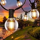 Catena Luminosa Esterno, 6.8 Metri 16 LED Lampadine Luci da Esterno con 2 Lampadine di Ricambio, LED Catena Luci da Esterno e Interno Decorazione per Festa Matrimonio Giardino Cortili