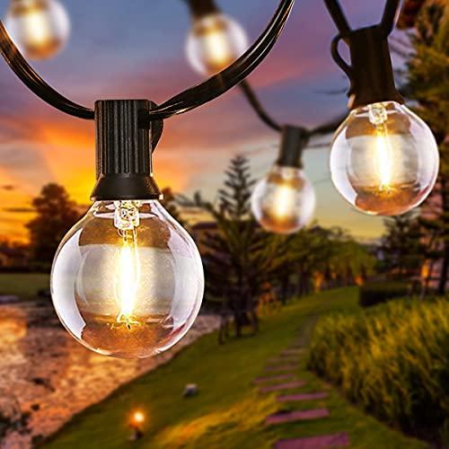 Catena Luminosa Esterno, 6.8 Metri 16 LED Lampadine Luci da Esterno con 2 Lampadine di Ricambio, LED...