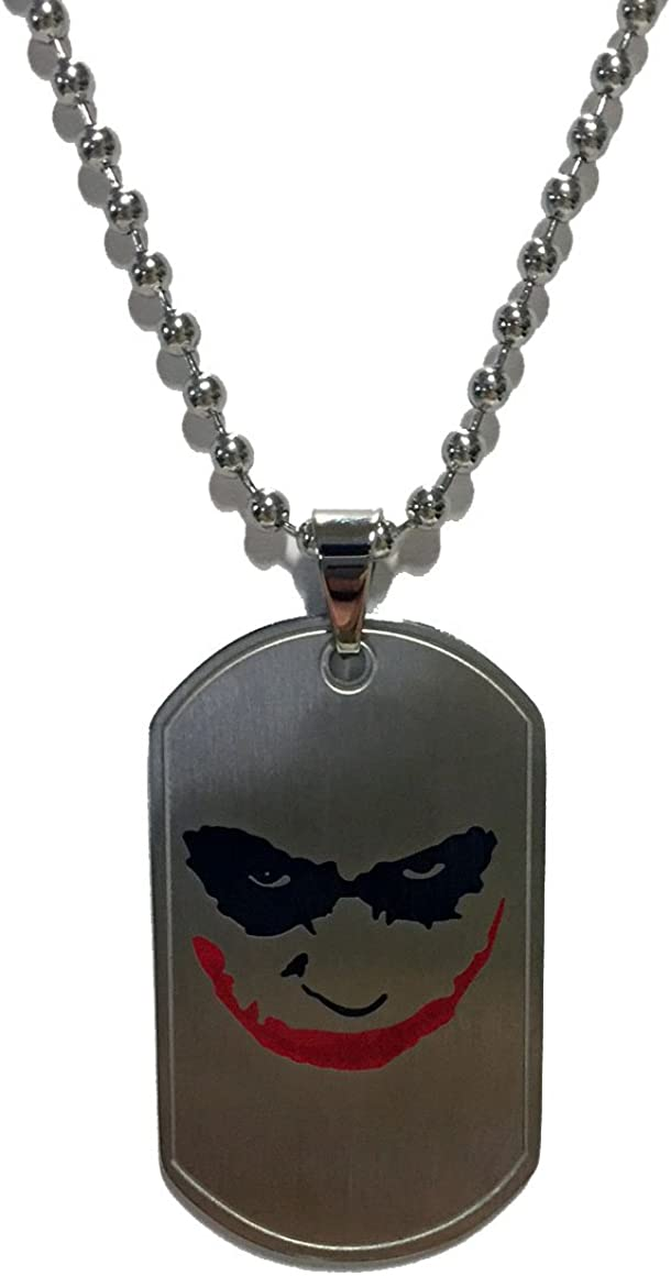 Heroes in Action Batman The Dark Knight Joker Pendant Necklace - Stainless Steel