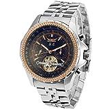 Forsining Men's Luxury Brass Band Automatic Self-Winding Wrist Watch JAG070M4T2