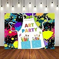 GooEoo 9x6ft 絵画グラフィティアートデザインスタイルテーマドレスカオスアート写真背景フォトギャラリーブース背景家族休暇誕生日パーティー写真ビニール素材