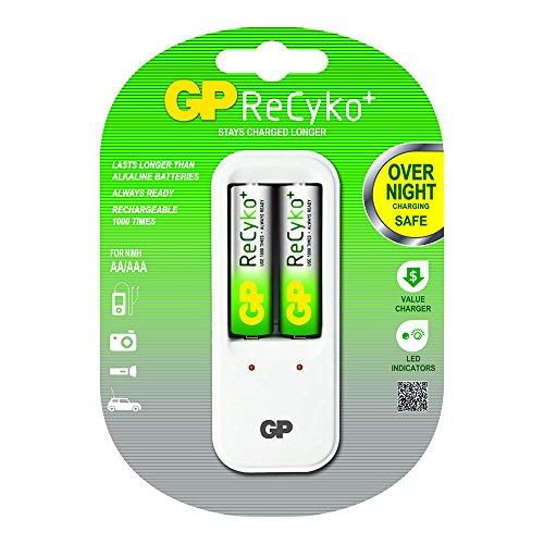 GP PowerBank PB410 oplader incl. 2x AA, 2100 mAh voor NiMh AAA/AA