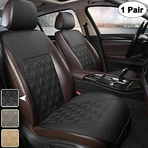 West Llama Universal Fit Premium Vordersitze Autositzbezüge Sitzauflagen mit Diamantmuster (1 Paar - Schwarze)