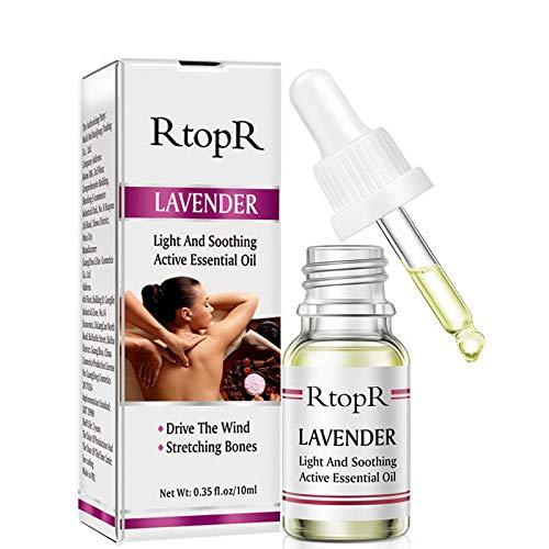 10g / Ml Flacon Compte-gouttes D'huile De Massage Relaxant à L'huile Essentielle De Lavande