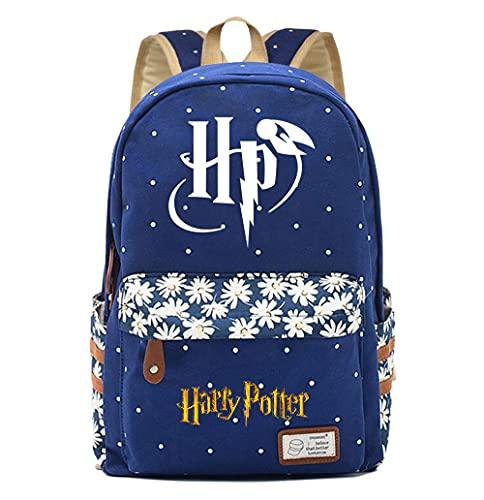 NYLY Mochila Avatar de Harry Potter,Joven Estudiante Bolsa para la Escuela, niña Flores Backpack Bolsa para portátil Unisexo (Estilo AR)