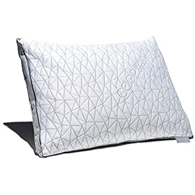 Coop Home Goods Eden Shredded Memory Foam Pillow with Cooling Zippered Cover and Adjustable Hypoallergenic Gel Infused Memory Foam Fill - Standard