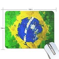 マウスパッド ブラジルの国旗 ゲーミングマウスパッド 滑り止め 19 X 25 厚い 耐久性に優れ おしゃれ