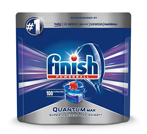 Finish Quantum Max 100Stück(e) Dishwasher Detergent + Rinse aid + Salt Compressa