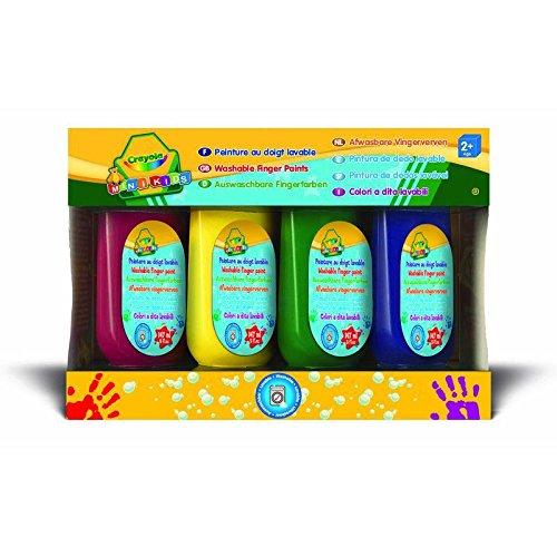 Crayola Mini Kids - 4 Washable fingerpaint tubes pintura de