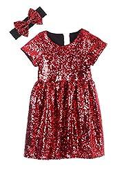 Wine Black Toddlers Sequin Dress