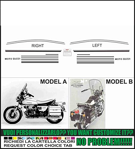 Emanuel & Co Kit adesivi Decal stikers Moto Guzzi 850 t3 California (Geben Sie Model A oder B)