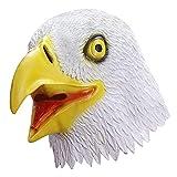 Eagle Mask Eagle Head Mask Adult Bird Mask Animal Mask Halloween Cosplay Novelty Luxurious Realistic Funny Horror Party Woman Man(White Eagle)