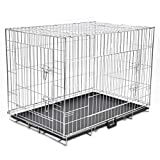 vidaXL Cage en Métal Pliable pour Chien XL Cage de Transport Chenil Maison