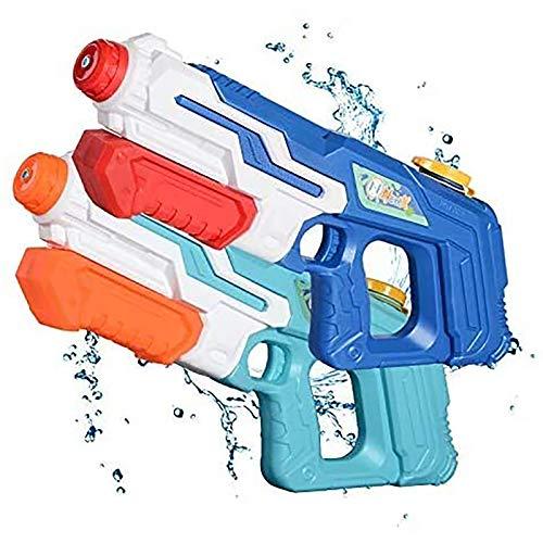 NextX Wasserpistole 2er Pack Reichweite 9 Meter Wassertank 1 Liter Sommer Strand Pool Spielzeug für Kinder Erwachsener
