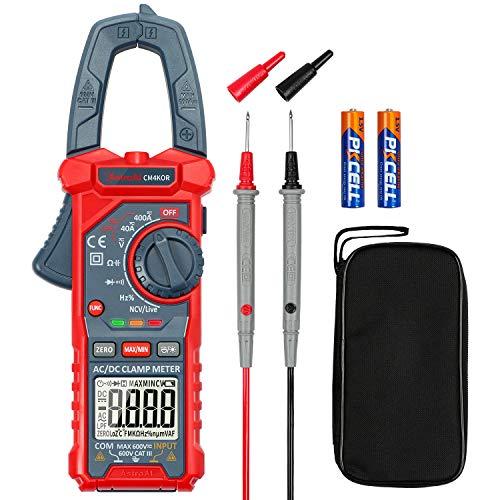 Digital AstroAI AC/DC Current Clamp Voltage, Electric Current, Current Resistance Capacitance Frequency AC Diode test, resistenza, continuità; Diodo di prova, LPF