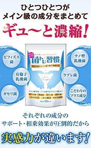 菌トレ習慣ビフィズス菌乳酸菌一袋に3兆個の菌オリゴ糖ラクトフェリンサプリメントタブレット30日