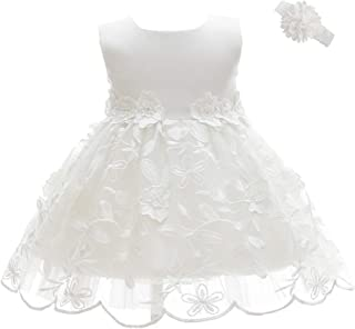 Moon Kitty Baby Girls Embroideries Baptism Dresses Christening Special Occasions Gown for Baby Girl