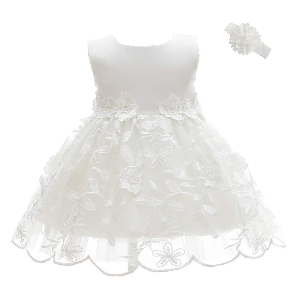 Moon Kitty Dresses Embroidery Christening
