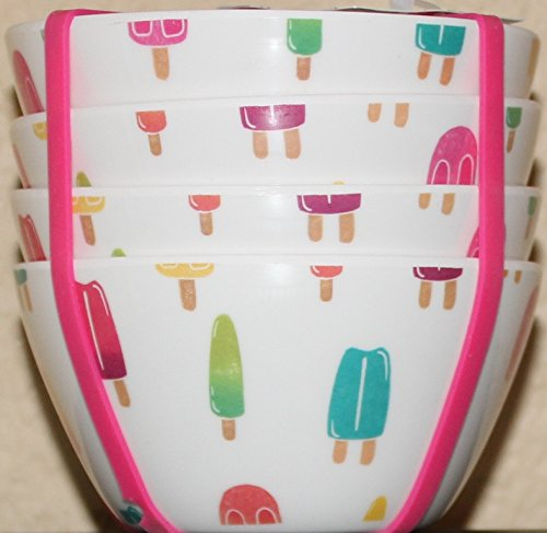 "Kensie Home""Popsicle"" 3-7/8"" Melamine Bowls - Set of 4"