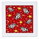 3dRose Happy Cow Boy Steppdecke, quadratisch, 15,2 x 15,2
