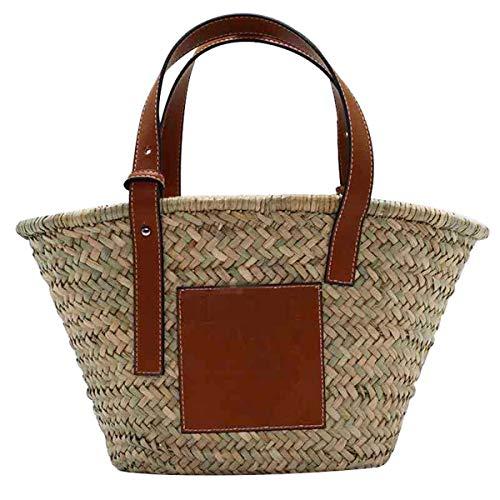 Rieten strandtas grote geweven strozak handtas vrouwen geweven tas zomer strand tas met kwast voor reizen