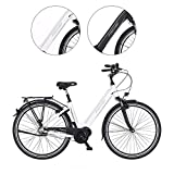 Fischer E-Bike City CITA 3.1i, Elektrofahrrad, weiß matt, 28 Zoll, RH 44 cm, Mittelmotor 50 Nm, 48V Akku im Rahmen