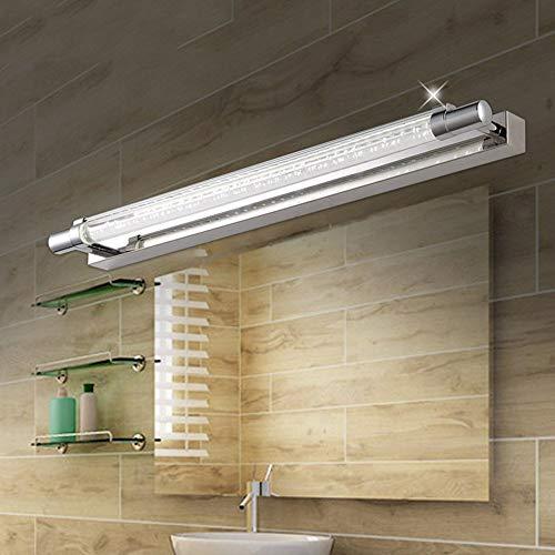 NA Hoofdbadkamerspiegel-koplamp-RVS badkamer geleid spiegel voorlamp eenvoudige moderne badkamerspiegel- / spiegelkast- / wand-licht- / cosmeticaspiegel (52 cm - 6 W, 60 cm - 7 W) d