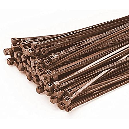 100 Stück Kabelbinder 300mmx4 8mm Für Zaun Schattiernetz Zaunblende In Braun Garten