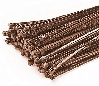200 stycken buntband 100 mm x 2,5 mm för staket skuggnät staketskydd i brun