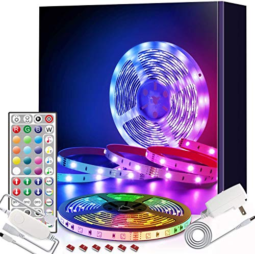 SURPZON LED Branch Lights Decorative Lights LED Strip Lights 5M(16.4Ft) RGB Colour Changing Strips Lights with Remote Control Multi-Color Lights for Christmas Xmas Indoor Outdoor Lights TV Lights