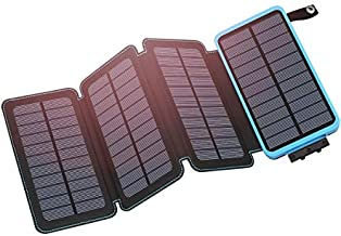 Hiluckey Solar Charger 25000mAh Portable Solar Power Bank Waterproof Battery Packs with Dual Ports Solar Phone Charger for...
