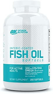OPTIMUM NUTRITION Omega 3 Fish Oil, 300MG, Brain Support Supplement, 200 Softgels, Packaging May Vary