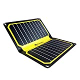 FlexSolar 11W/5V Foldable Solar Powered Phone Charger Outdoor Portable Solar Panel with USB Output Yellow