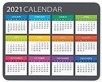 2021 カレンダー マウスパッド ゲーム用マウスパッド オフィス用マウスパッド 滑り止めゴム