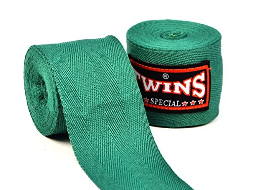 Twins Special Premium Handbandagen für Boxer, Baumwolle grün grün
