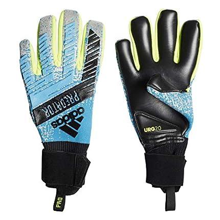 adidas Guantes de Portero Predator Pro, Unisex Adulto, Color Bright Cyan/Silver Met/Solar Yellow/Black, tamaño FR : XL (Talla del Fabricante: 10,5)