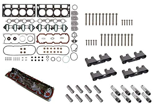 GM 5.3L AFM/DOD Active Fuel Management Lifter Replacement Kit Gasket Set,Head Bolts,Full Lifter Set,Lifter Trays,VLOM Plate