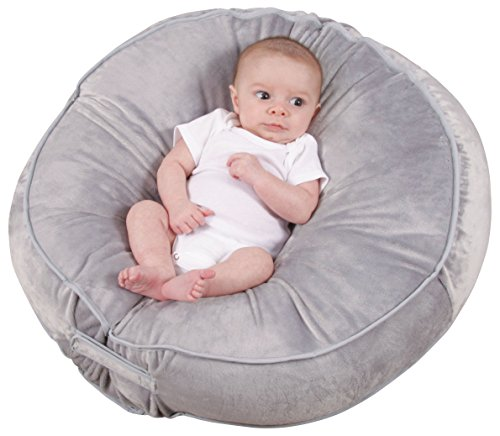 New Leachco Podster Plush Sling-Style Infant Lounger - Gray