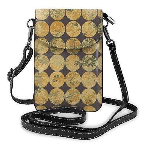 Funda de botón para mujer, diseño de margaritas, de piel, para viajes, compras, etc.