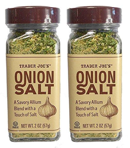 Trader Joe's Onion Salt, A Savory Allium Blend with a Touch of Salt, 2 oz (57g) - 2-PACK