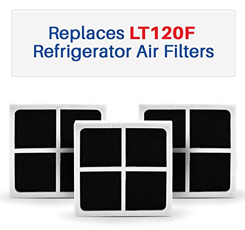 K&J 3-Pack LG LT120F Compatible Air Filters - Fits LT120F and ADQ73214404 Refrigerator Air Filters - Fresh Air Filter 3-Pack