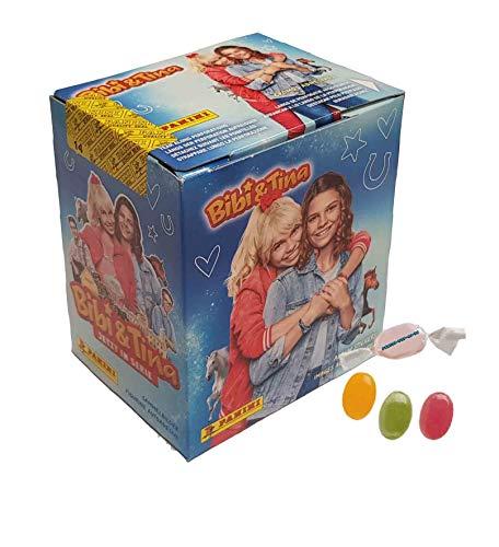 Panini Bibi & Tina Sticker (2020) - Sammelsticker 1 Display ( je 50 Tüten) zusätzlich erhalten Sie 1 x Fruchtmix Sticker-und-co Bonbon