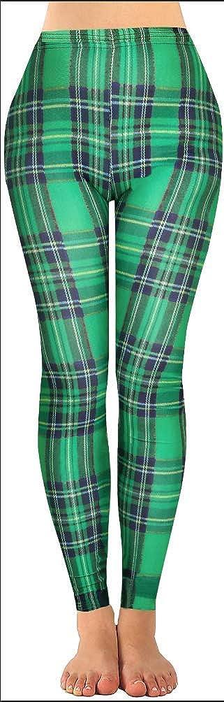 Moon Wood St. Patrick's Day Leggings, Fun Fashion Graphic Printed High Elastic Leggings