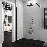 Mampara de ducha FIJA VAROBATH - Vidrio 8MM - Tratamiento