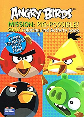 Modern Publishing Angry Birds Giant Coloring and Activity Books (2 Book Set) - 96 Pages Each