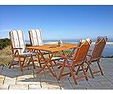 GRASEKAMP Qualität seit 1972 Gartenklapptisch Rio Grande 140x80cm Holztisch Esstisch Gartentisch Balkon-Tisch - 5