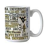 NCAA West Virginia Mountaineers Spirit Mug, 15-ounce,