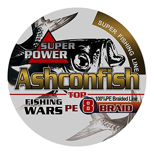 Ashconfish PEライン 8編 釣り糸 500m (0.4号 0.6号 0.8号 1号 1.2号 1.5号 2号 3号 3.5号 4号 4.5号 5号 6号 7号 8号 9号 10号) 高強度 高感度 低伸度 イエロー