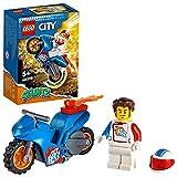 LEGO 60298 City Stuntz Raketen-Stuntbike, Set mit schwungradbetriebenem Motorrad und Rocket-Racer-Minifigur, Spielzeug für Kinder ab 5 Jahren