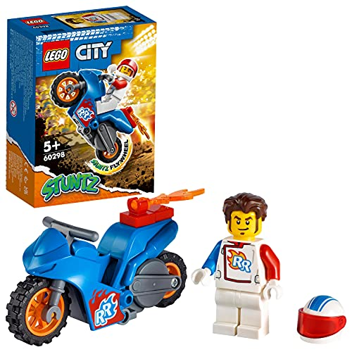 LEGO City Stuntz Stunt Bike Razzo, Set con Moto Giocattolo con Meccanismo a Spinta e Minifigura Pilota Rocket,...